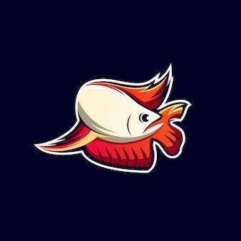 素晴らしい魚のeスポーツのロゴデザイン