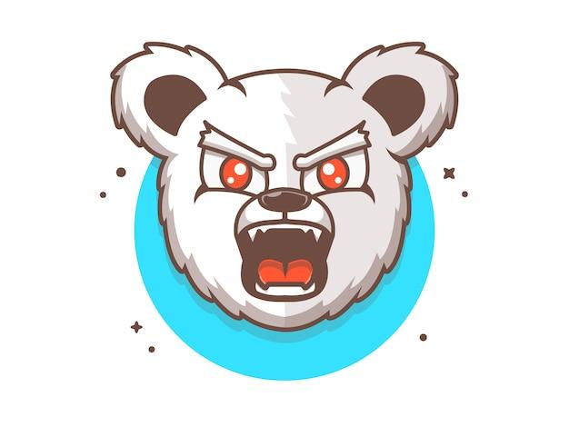 クマeスポーツロゴ、動物アイコンコンセプト