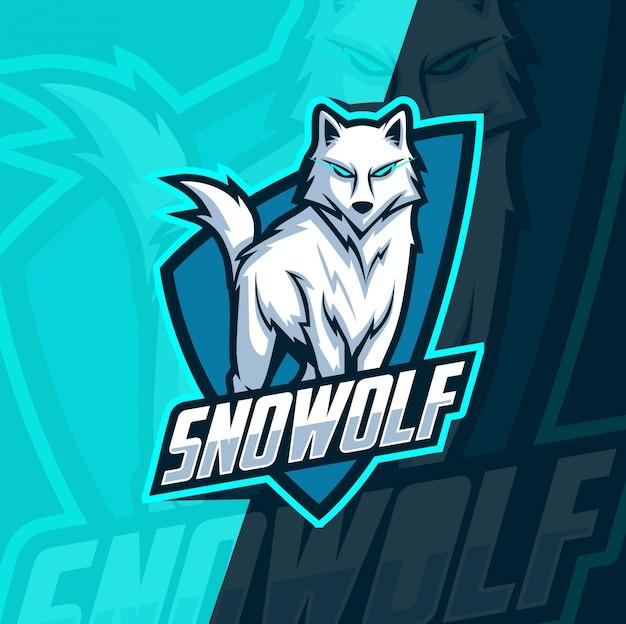 オオカミのオオカミマスコットeスポーツ