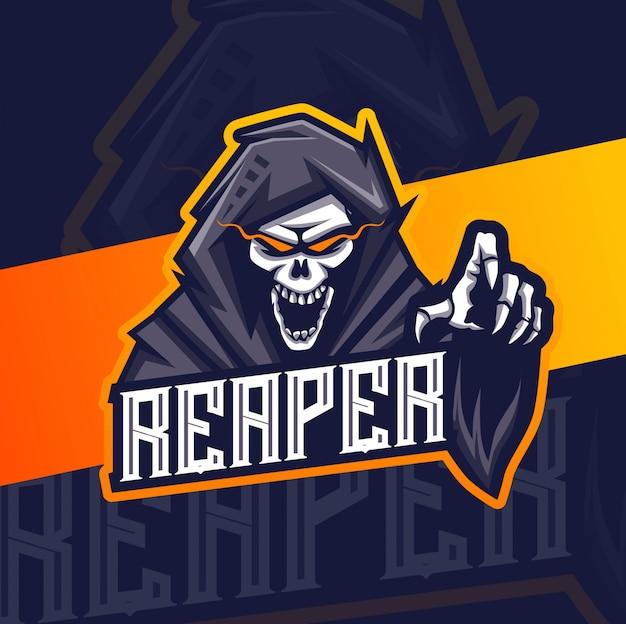 死神マスコットeスポーツのロゴデザイン