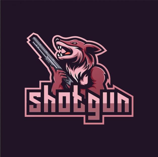 オオカミのロゴeスポーツ