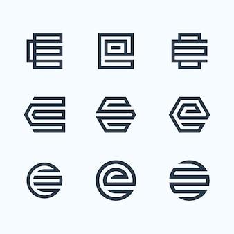 Буква e с логотипом
