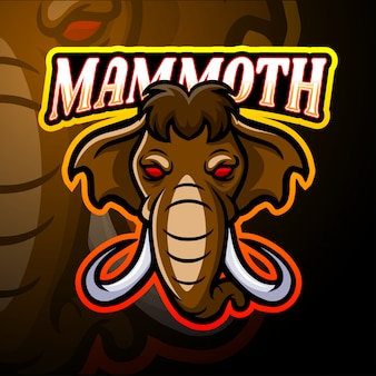 マンモスeスポーツのロゴのマスコットデザイン