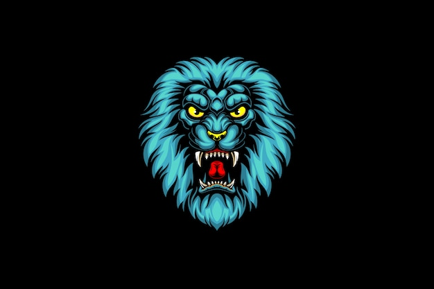 ブルーライオンヘッドのeスポーツロゴ