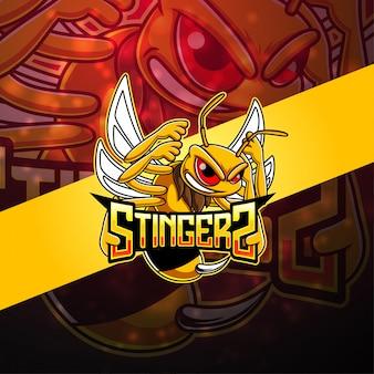 スティンガーeスポーツマスコットロゴ
