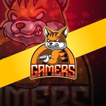 ゲーマーのeスポーツマスコットロゴデザイン