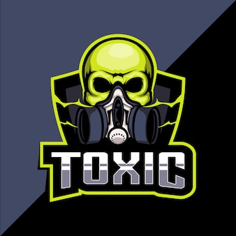 有毒なマスクのeスポーツのロゴデザイン
