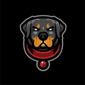 犬のeスポーツのロゴ