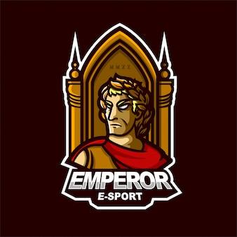 皇帝eスポーツゲームのマスコットのロゴのテンプレート