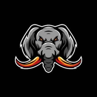 エレファントeスポーツのロゴのテンプレート