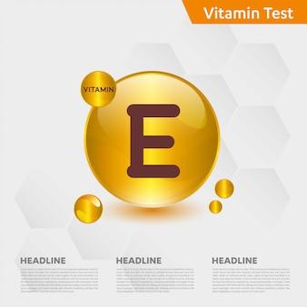 ビタミンeインフォグラフィックテンプレート