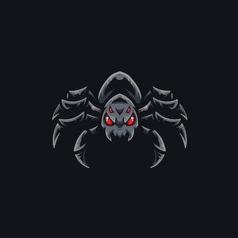スパイダーeスポーツチームのロゴのテンプレート