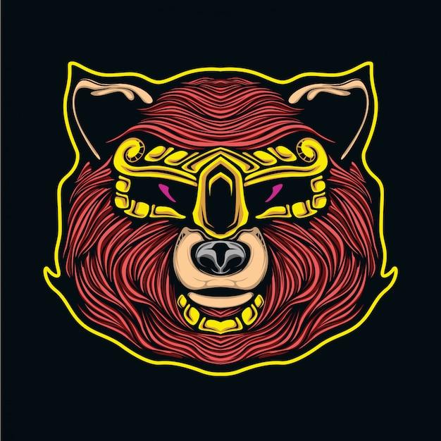 クマのマスコットのeスポーツ