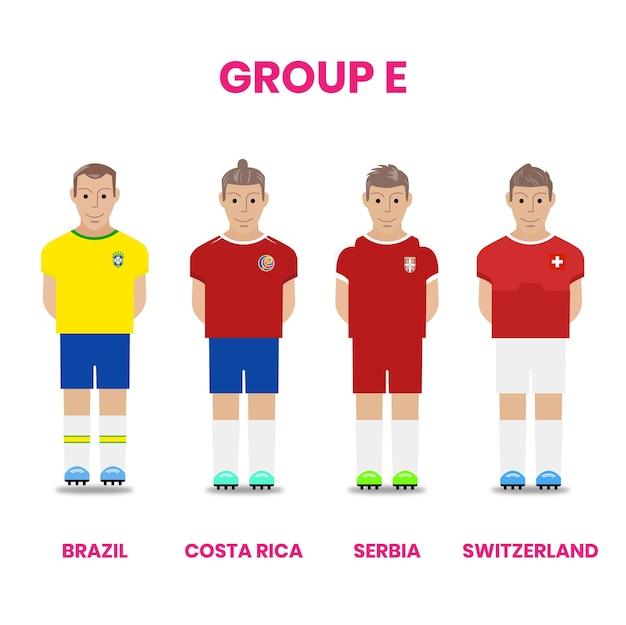 グループeのナショナルサッカーチーム競争