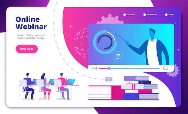 ウェブセミナー 。オンラインウェビナーセミナースピーカー学生ウェブコンサルテーションウェブキャストeミーティングビデオトレーニングコースランディングページ