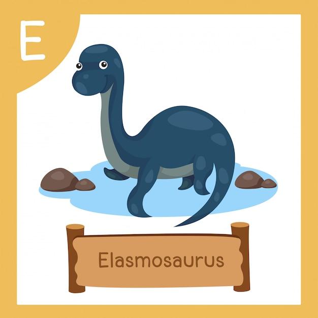 恐竜エラスモサウルスのeのイラストレーター