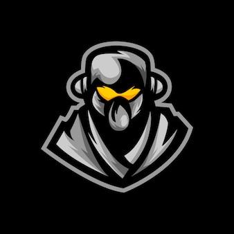 忍者eスポーツロゴゲームマスコット