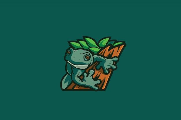 Лягушка e спорт логотип