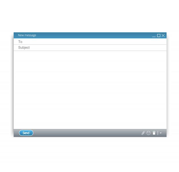 Eメールの空白のテンプレートベクトル