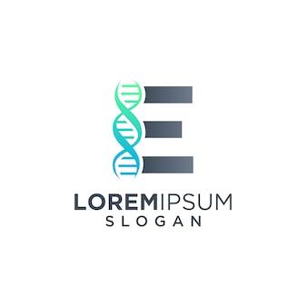 Буква e днк логотип