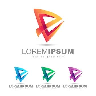 文字eロゴデザインのベクトル