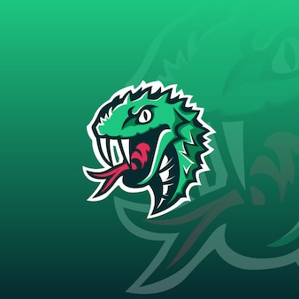ヘビのeスポーツのロゴ