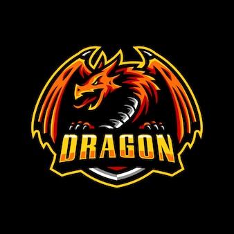 ドラゴンマスコットロゴeスポーツゲーミング