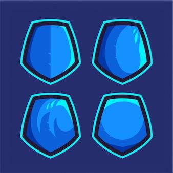 Eスポーツまたはスポーツのロゴに青い盾を設定する