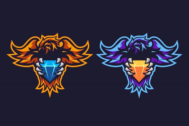 フェニックスダイヤモンドeスポーツロゴデザイン