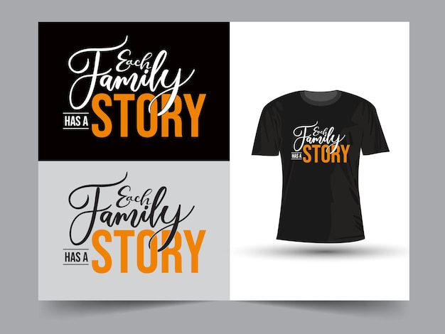 Each family has a story lettering design