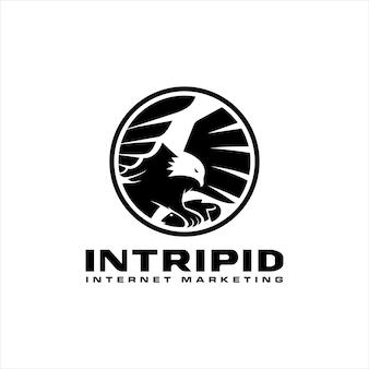 Eagel bird catch internet marketing logo design