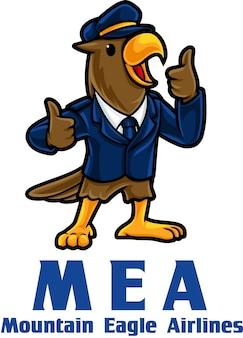 Шаблон талисмана логотипа eagle airlines