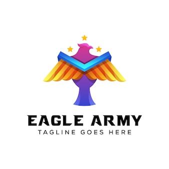 Eagle army logo illustratiion