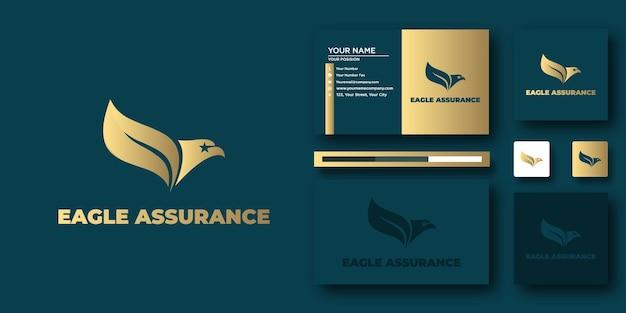Шаблон логотипа eagle assurance с современной концепцией