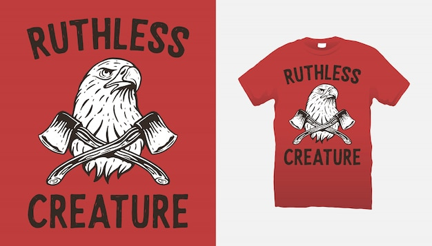 Eagle and axes t-shirt design