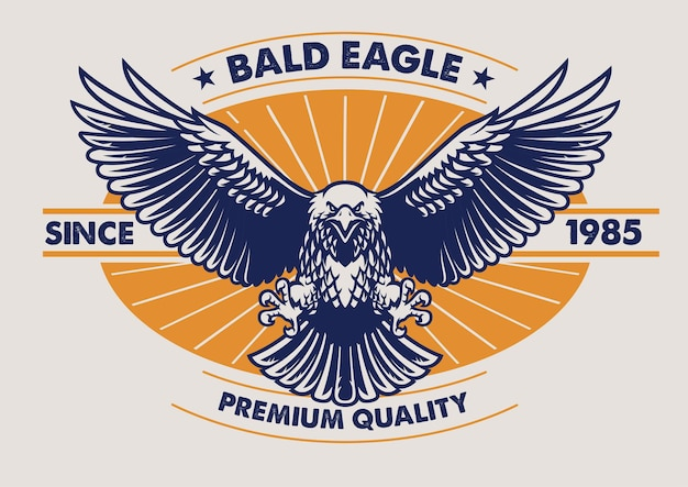 Eagle badge design in vintage style