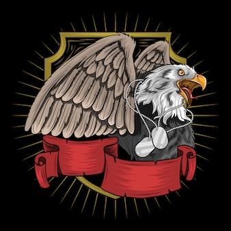 Птица орела для ветеранов, памяти и дня независимости артворк