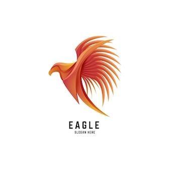 Орел птица градиент красочный дизайн логотипа