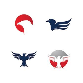 Eagle bird logo template vector icon