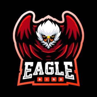 Eagle bird mascot esport logo design