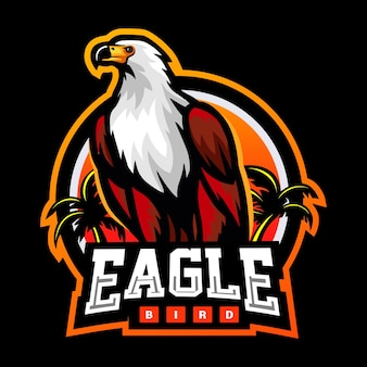 독수리 새 마스코트 esport 로고 디자인