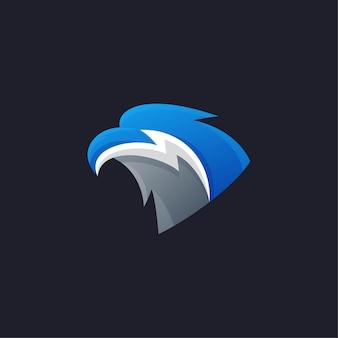 독수리 블루 마스코트 esport