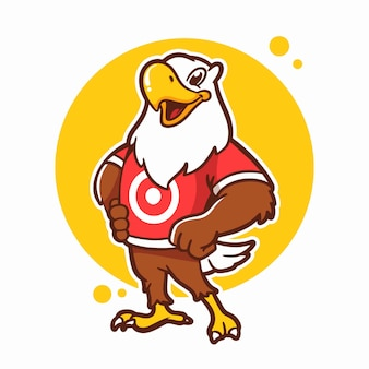 Eagle cartoon logo template