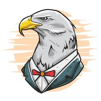 Орел персонаж изящная иллюстрация