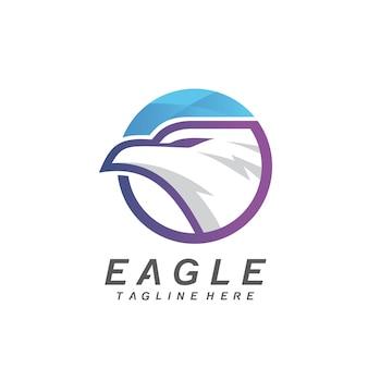 Eagle in circle logo design