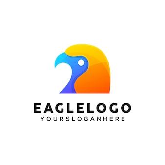 Eagle colorful logo design template