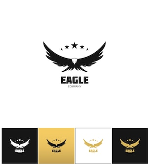 Eagle company vector icon.