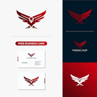 Eagle creative logo design concept vector template