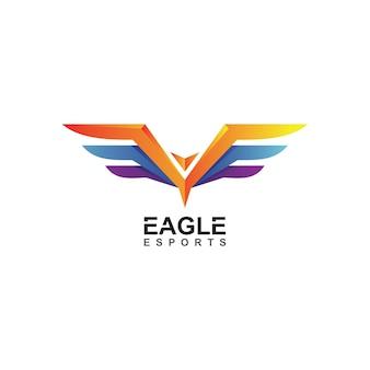 Логотип киберспорта орла в векторе