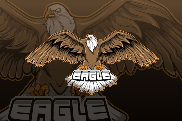 Eagle e-sports team logo template